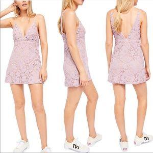 Free People Dangerous Love Lace Mini Dress